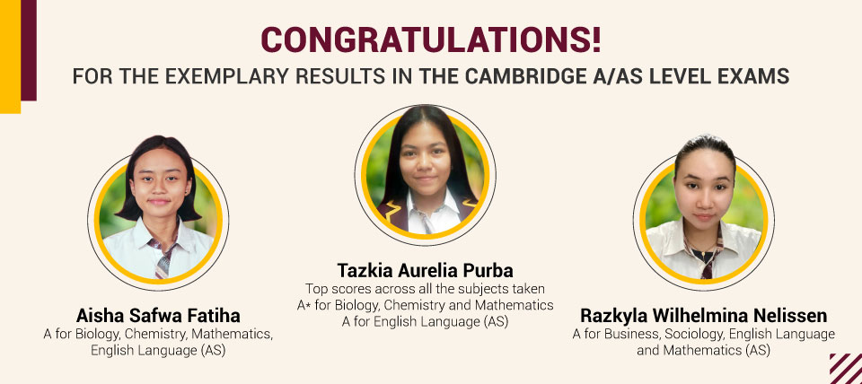 Exemplary Results in the Cambridge A/AS Level Exams
